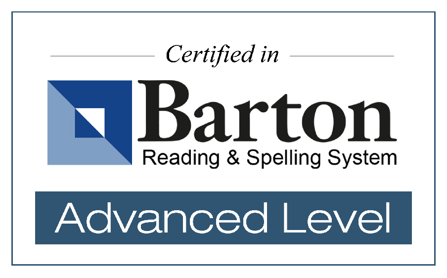 Certified in Barton Reading & Spelling System - Advanced Level